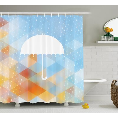 Geometric Umbrella Decor Shower Curtain Size: 69 H x 70 W