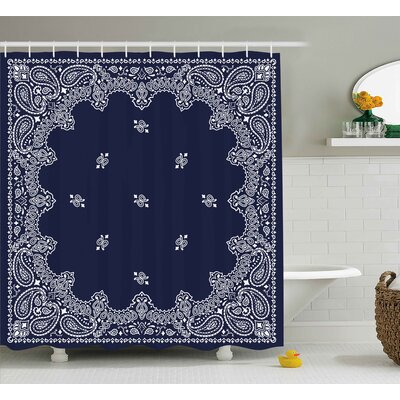 Ethnic Asian Shower Curtain Size: 69 H x 75 W