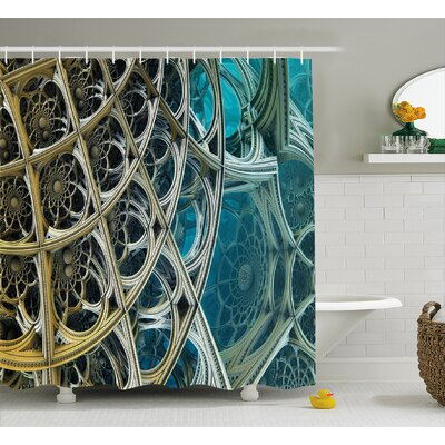 Arabesque Vintage Shower Curtain Size: 69 H x 75 W