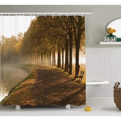 Clovis Walkway at The Canal Decor Shower Curtain Size: 69 H x 84 W