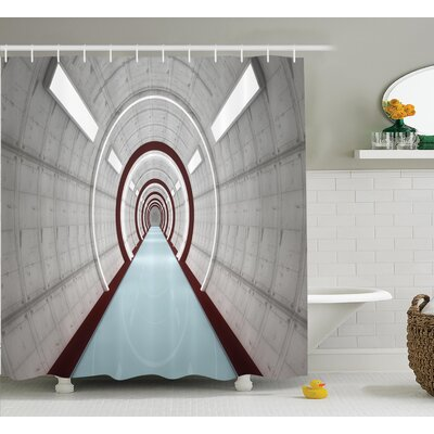 Architecture Decor Shower Curtain Size: 69 H x 75 W