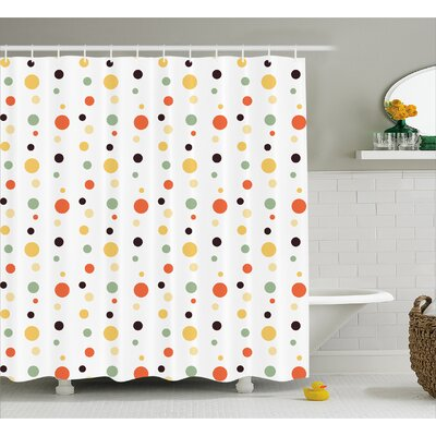 Velasquez Circle Decor Shower Curtain Size: 69 H x 84 W