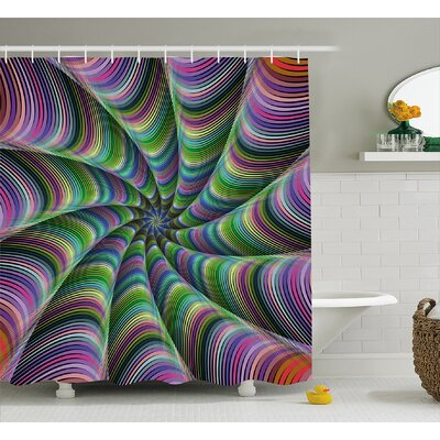 Tentacles Shower Curtain Size: 69 H x 75 W