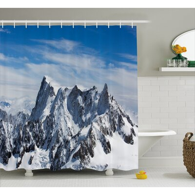 Cliff to Coud Decor Shower Curtain Size: 69 H x 70 W