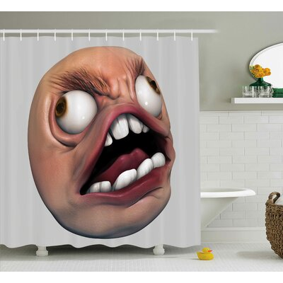 Angry rage Decor Shower Curtain Size: 69 H x 70 W