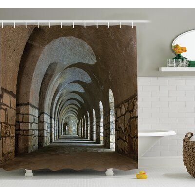 Parabol Decor Shower Curtain Size: 69 H x 75 W