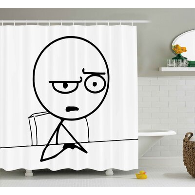 So What Guy Meme Face Decor Shower Curtain Size: 69 H x 70 W