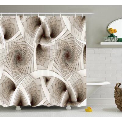 Sci Fi Shower Curtain Size: 69 H x 70 W