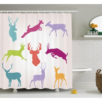 Wilderness Nature Shower Curtain Size: 69 H x 70 W