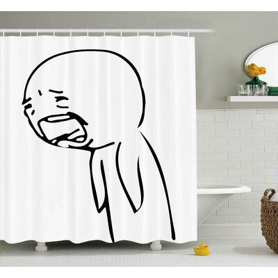 Graphic Decor Shower Curtain Size: 69 H x 70 W