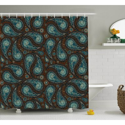 Teardrop Shaped  Decor Shower Curtain Size: 69 H x 75 W