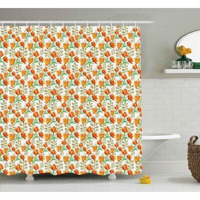 Blossom Garden Shower Curtain Size: 69 H x 84 W