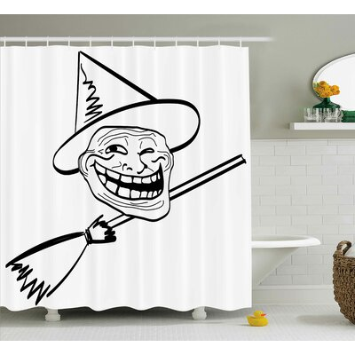 Witch Decor Shower Curtain Size: 69 H x 70 W