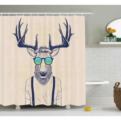 Cool Hipster Fashion Shower Curtain Size: 69 H x 75 W
