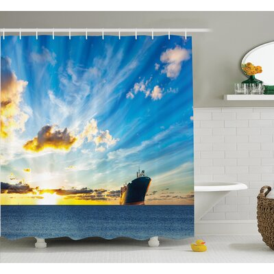 Dreamy Sky Nautical Decor Shower Curtain Size: 69 H x 75 W