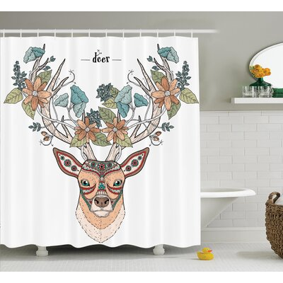 Flowers Bloom Shower Curtain Size: 69 H x 75 W