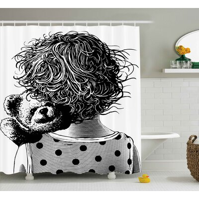 Kids Shower Curtain Size: 69 H x 75 W