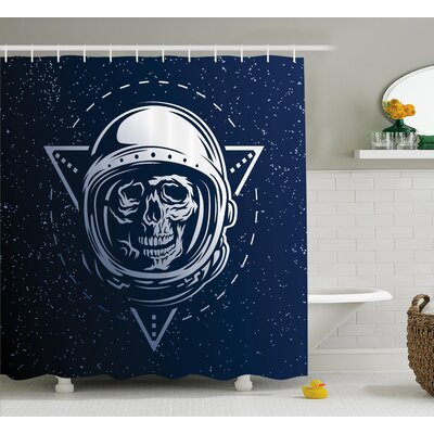 Dead Skull Head Decor Shower Curtain Size: 69 H x 75 W