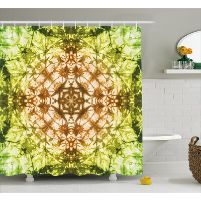 Water-resistant Decor Shower Curtain Size: 69 H x 70 W