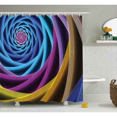 Digital Electronic Shower Curtain Size: 69 H x 75 W