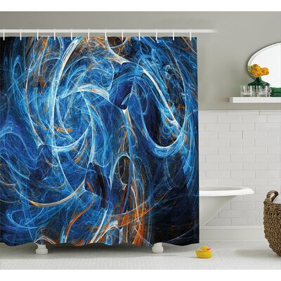 Abstract Curves Shower Curtain Size: 69 H x 75 W