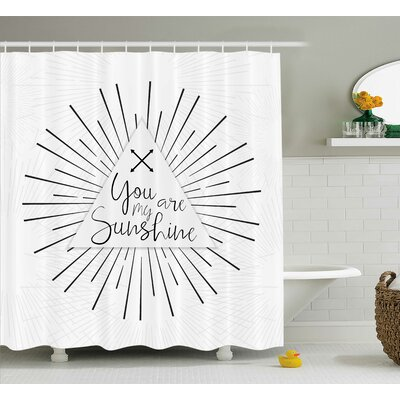 Tribal Boho Quotes Decor Shower Curtain Size: 69 H x 75 W