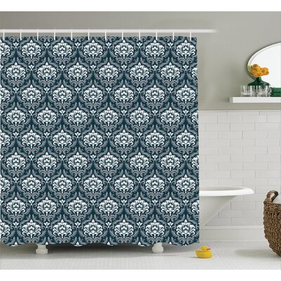 European Retro Shower Curtain Size: 69 H x 70 W