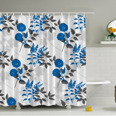 Flower Print Shower Curtain