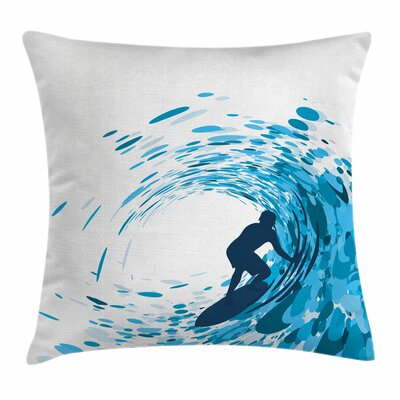 Huge Wave Athlete Square Cushion Pillow Cover Size: 20 x 20