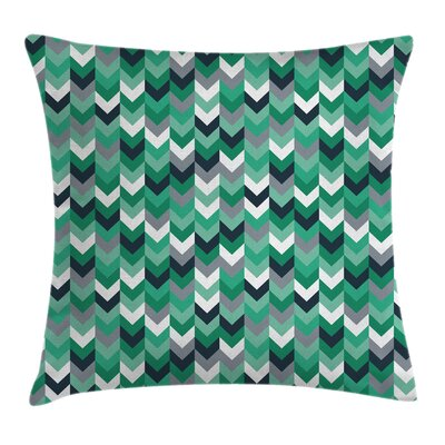 Chevron Symmetric Zig Zag Lines Cushion Pillow Cover Size: 16
