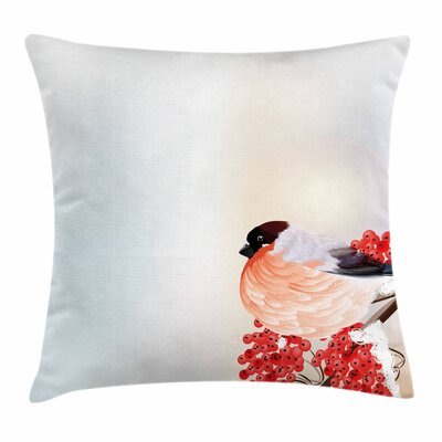 Christmas Themed Nature Square Pillow Cover Size: 24 x 24