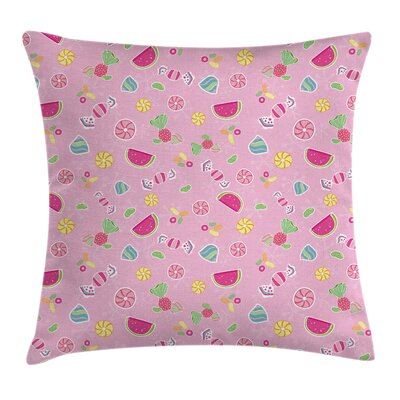 Delicious Fruit Cushion Pillow Cover Size: 18 x 18