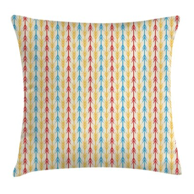 Arrow Stripe Pillow Cover Size: 18 x 18