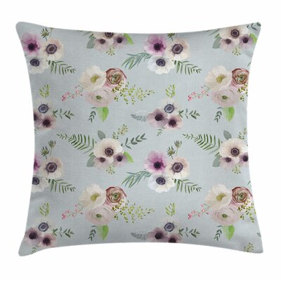 Anemone Shabby Bridal Square Cushion Pillow Cover Size: 20 x 20