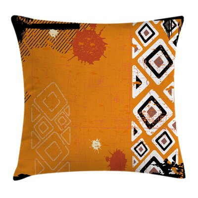 Ethnic African Design Cushion Pillow Cover Size: 18 x 18