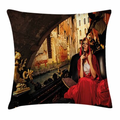 Woman Pillow Cover Size: 24 x 24