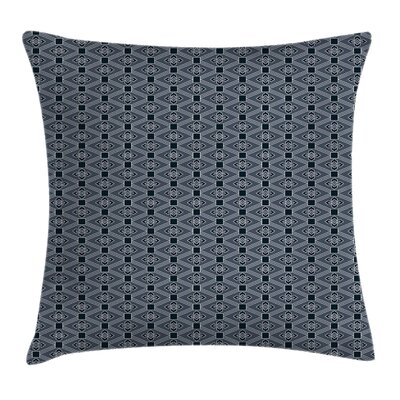 Floral Diamond Line Cushion Pillow Cover Size: 18 x 18
