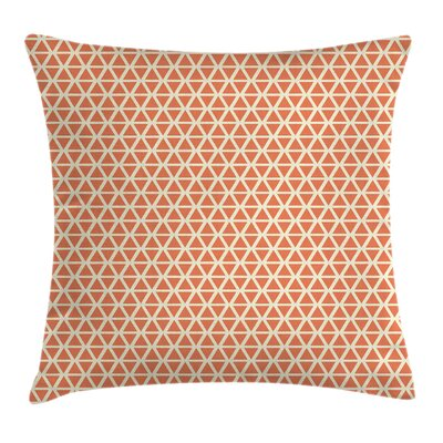 Orange Groovy Soft Triangles Square Pillow Cover Size: 16 x 16