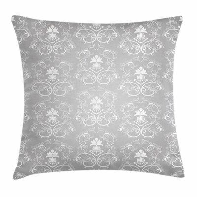 Damask Royal Square Cushion Pillow Cover Size: 18