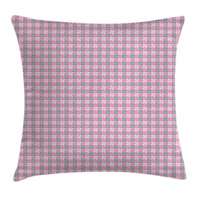 Spring Flowers Chain Square Pillow Cover Size: 16 x 16