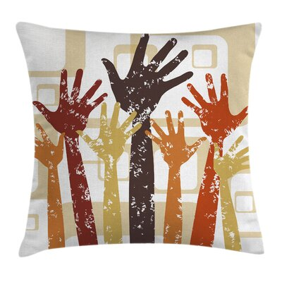 Hands Square Pillow Cover Size: 18 x 18