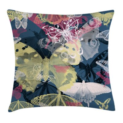 Butterflies Square Pillow Cover Size: 24 x 24