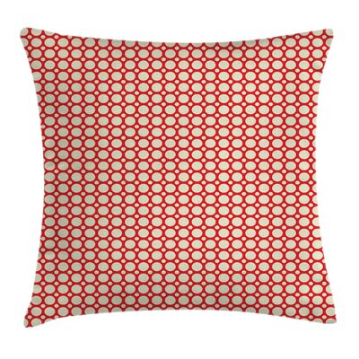 Big Small Polka Dots Cushion Pillow Cover Size: 24 x 24