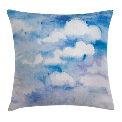Fantasy Cloudy Sky Hazy Serene Square Pillow Cover Size: 18 x 18