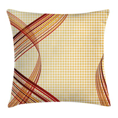 Modern Curve Graphic Pillow Cover Size: 16 x 16