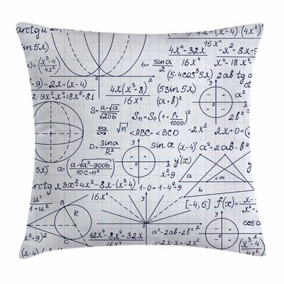 Modern Decor Student Geometry Cushion Pillow Cover Size: 18 x 18