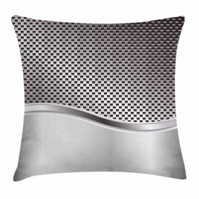 Grid Motif Square Cushion Pillow Cover Size: 24 x 24