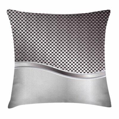 Grid Motif Square Cushion Pillow Cover Size: 18 x 18