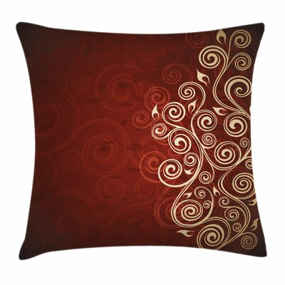 Modern Floral Graphic Square Pillow Cover Size: 16 x 16