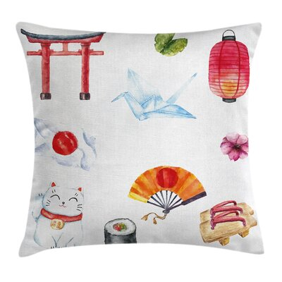 Japanese Speciality Pillow Cover Size: 16 x 16